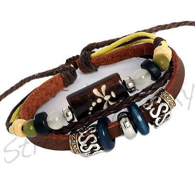 ★Armband im Maori Surfer Styl Leder Unisex Bracelet Leather Bracciale B336★