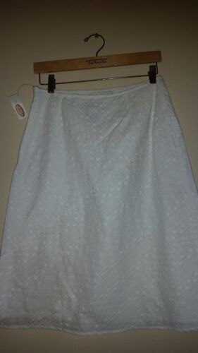 Talbots Knee A Women's Length line With 8 Skirt Tag Size White New gqgnrOR