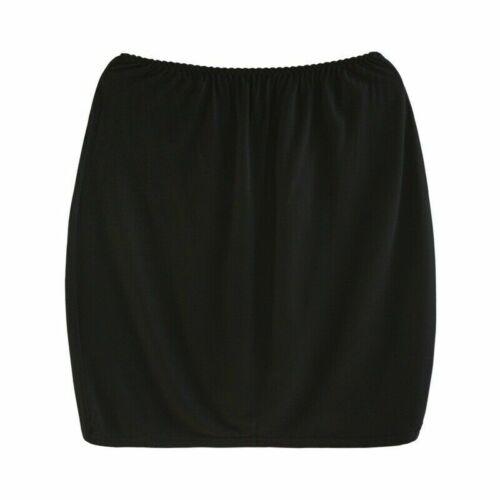Damen Modal Enganliegender Rock Halb Rutsch Gerade Unterrock Midi Petticoat