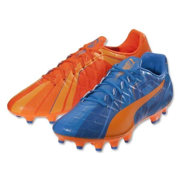 Puma eVoSpeed 4.3 FG HTH 2018 Soccer Shoes Brand New Royal Blue - Orange