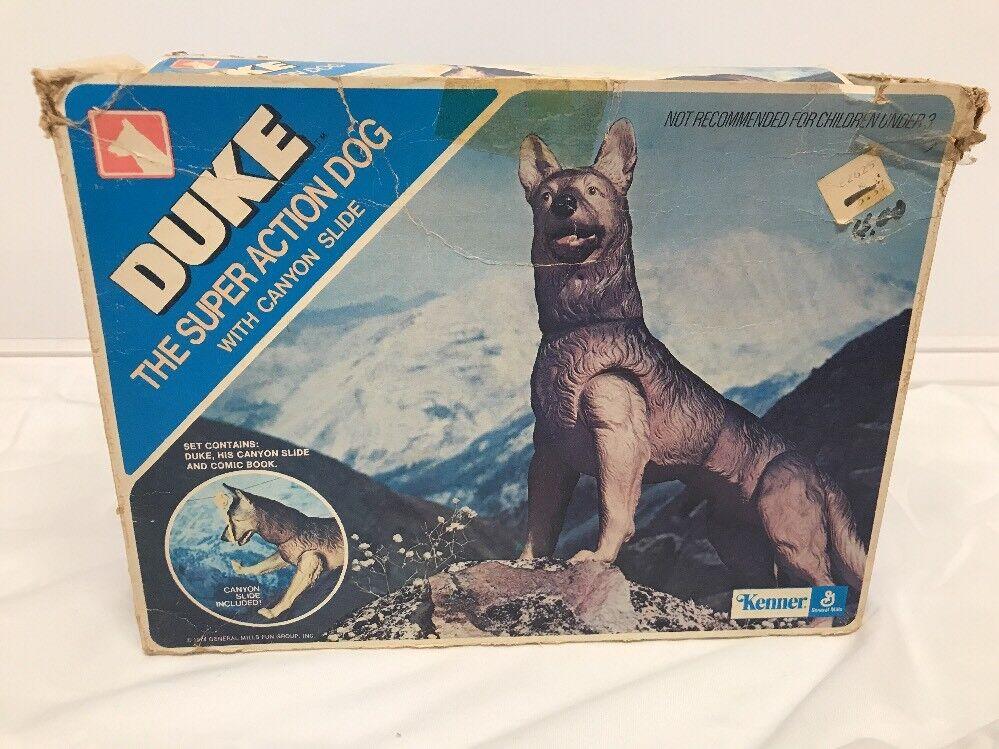 Rare Vintage Kenner  DUKE THE GERMAN SHEPHERD Super Action Dog Canyon Slide