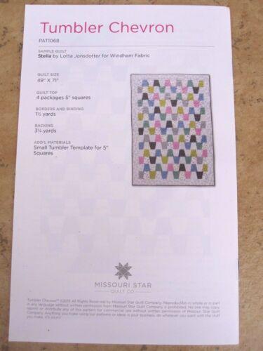 "5/"" Tumbler /& Tumbler Chevron Quilt Pattern for 5/"" Squares Missouri Star Quilt Co"