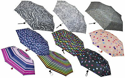 totes Supermini Cat Print Umbrella 3 section