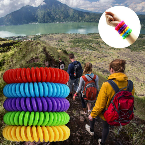 10x Mosquito & Insect Repellent Bracelets Wrist Band 250HR Natural & Deet Free