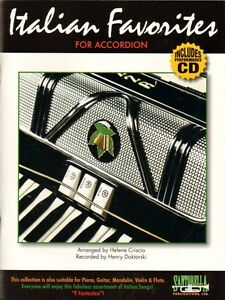 Details about Italian Favorites for Accordion, Music Book & CD