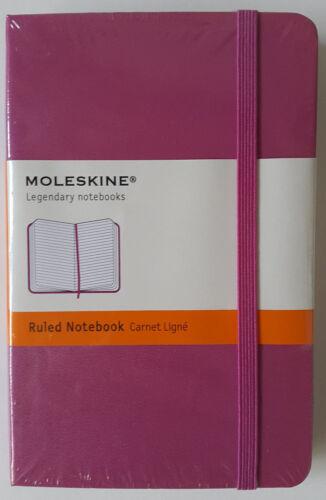 Moleskine Notizbuch 9 x 14 cm Hardcover pink blanko kariert liniert wählbar