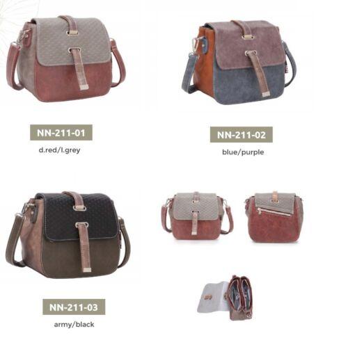 Noi Noi-Hi Di Hi kleine Handtasche blau rot schwarz braun NN-2011 Tasche Bag