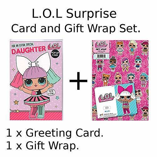 Carte et papier Cadeau Pack-Hey LOL surprise Fille Carte D/'anniversaire NEUF