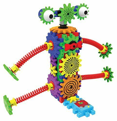 Smart Kids Toys Robot Construction Motor Gears 80+ Piece Learning Technology NEW