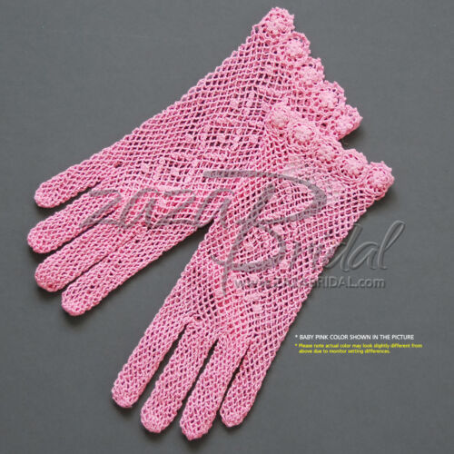 Lovely Cotton Crochet Gloves with a delicate Floral Details
