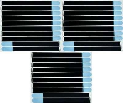 Ultima Raccolta Di 20x Nastro Di Velcro Fascette Per Cavi 80 Cm X 50 Mm Marrone Blu Velcro Nastri Cavo Nastro Di Velcro Asola-