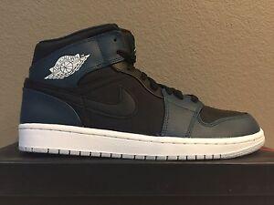 Image is loading Nike-Air-Jordan-1-Mid-Black-Pure-Platinum-