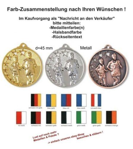 Massiv geprägte Medaillen Laufsport mit Band & Text Pokale & Preise Staffelpreise 25-50-75-100