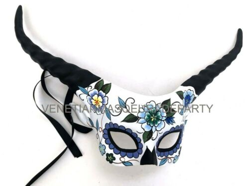 Venetian Antler Horn Masquerade Ball Mask Day of the Dead Dress up Cosplay Party