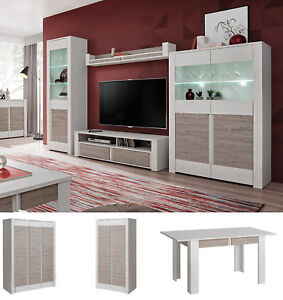 Image Is Loading White Wall Unit Entertainment Media Center Modern Living