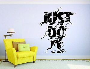 Just Do It Wall Mural Vinyl Decal Sticker Decor Car Quote Sport