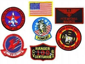 "Iron-On Patch Mega Set  006 TOP GUN /""MAVERICK/"" FANCY DRESS Patches"