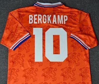 BERGKAMP Size S M L XL HOLLAND 1994 AWAY RETRO SHIRT