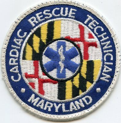 MARYLAND MD STATE CARDIAC RESCUE TECHNICIAN CRT FIRE PATCH