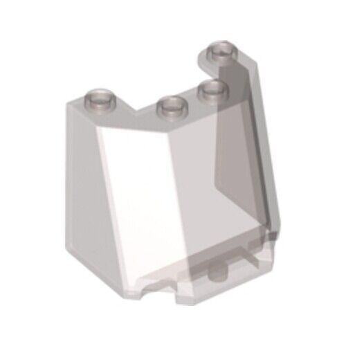 4543458 84954 NEW Lego 2x Transparent Smoked Glass Windscreen Window Clear