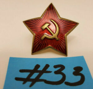 WW2-Russian-USSR-1940-Officer-cockade-badge-star-Hot-Sale-Military-Pin-Soviet