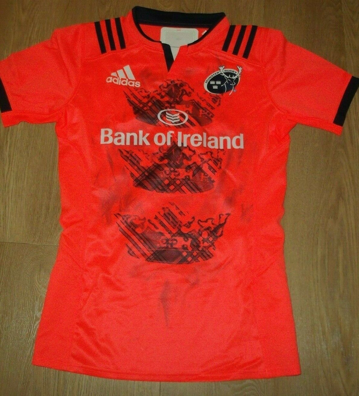 Munster Rugby Irland Irisch Orange Hemd Trikot Trikot Trikot Spieler Ausgabe Adidas 8 New fea1e2