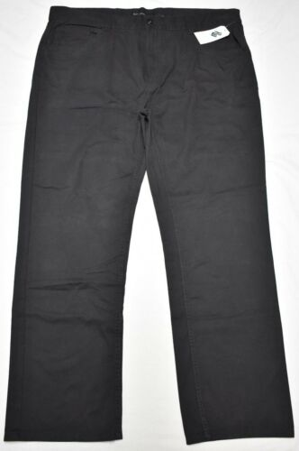Rocawear Pants Men R Flap Classic Fit 5-Pocket Twill Black Urban Streetwear N829