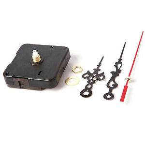 Quartz-Movement-Mechanism-Silent-Clock-Black-and-Red-Hands-DIY-Part-Set-Kit-Tool