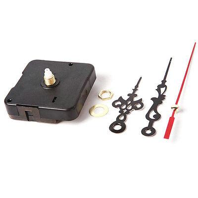 New Clock Quartz Movement Mechanism Red and Black Hands DIY Replacement Part Set