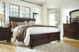 Ashley Furniture Porter King Sleigh Storage Bed 3 Piece
