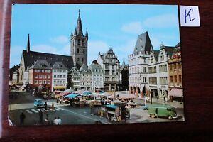 Frugal Carte Postale Vue Carte Rhénanie-palatinat Trèves Moselle Principal Marché-z Trier Mosel Hauptmarkt Fr-fr Afficher Le Titre D'origine