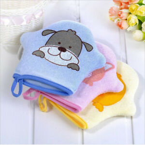 Bath-Sponge-Kids-Cartoon-Animals-Gloves-Blister-Towel-Body-Scrubber-D