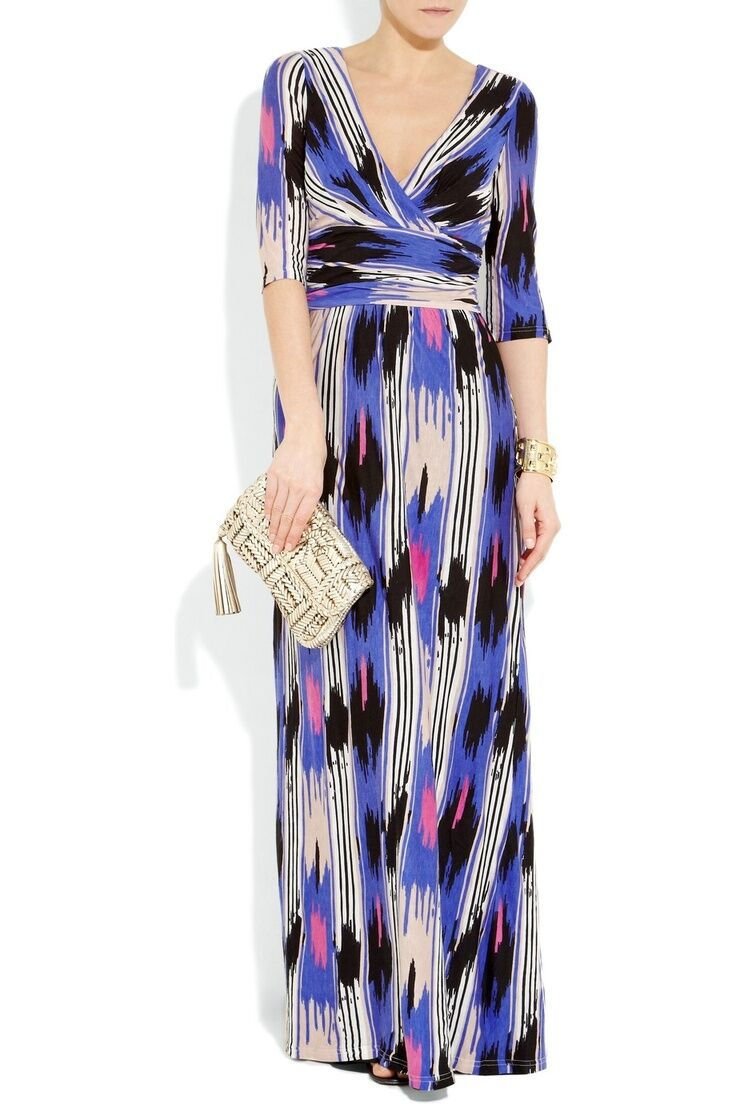 ALICE BY TEMPERLEY Mexican Printed Jersey Maxi Dress SIZE A