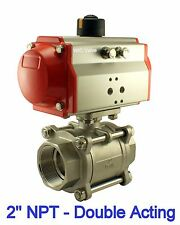 2 Inch Pneumatic Air Actuated Stainless Ball Valve Double Acting Air Return