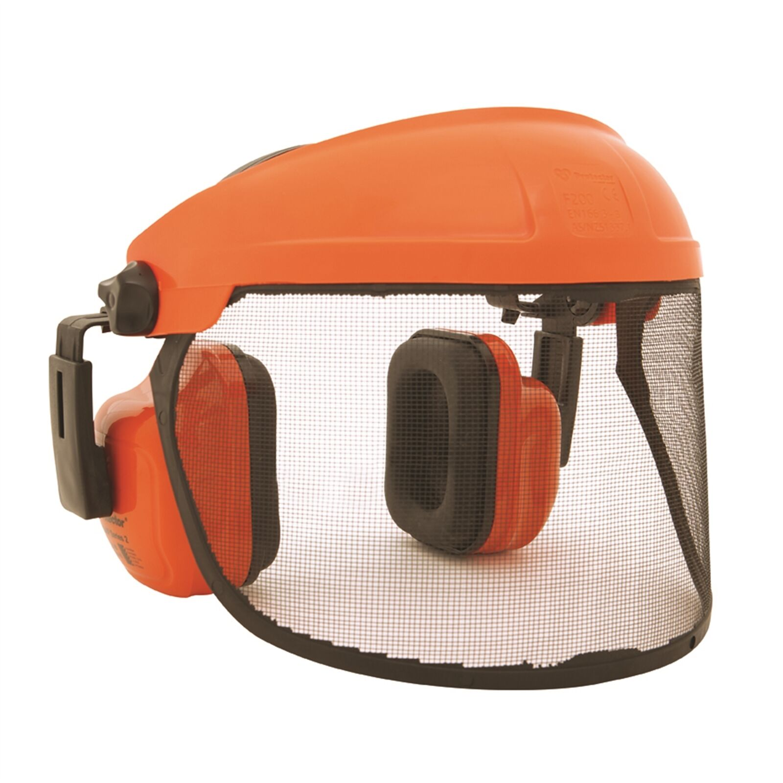 Protector CHAINSAW VISOR AND EARMUFFS Easy Fit Adjustment Australian Made