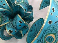 Peacock Ribbon Craft Trim Bows For Basket Pillows Weddings Party Supply 30 Feet