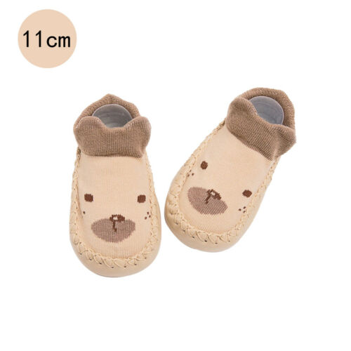 Baby Shoes Boys Girls Socks Anti-Slip Soft PU Toddler Walking Practice