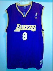9c051373572 Men Vintage Champion NBA Los Angeles Lakers  8 Kobe Bryant Jersey ...