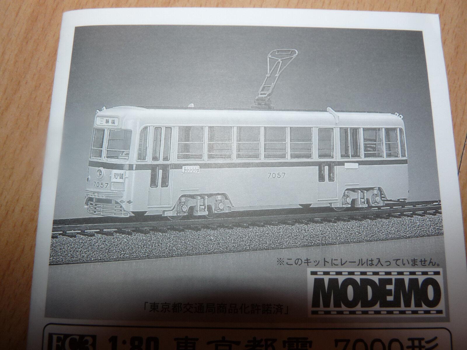 MODEMO Giappone modello Tram Tram Tokyo h0 tram h0/1:80