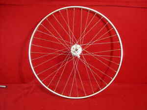 Rigida-Rear-Wheel-27-x-1-1-4-Chrome-Steel-36-Spokes-Schrader-Road-Used