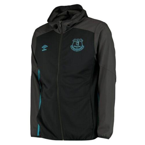 Everton FC Umbro Homme Core Zip Thru Veste à capuche-noir-Neuf