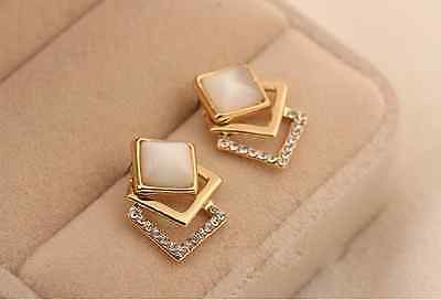 wholesale Cuicanduomu exquisite sparkling crystal Square rhinestone stud earring