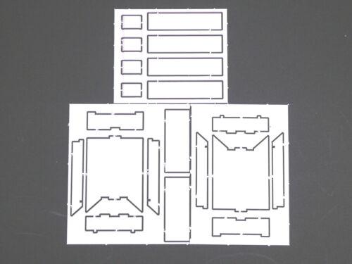 1:87 EM144 2x Staukasten Bausatz für Drehschemel Anhänger f Herpa Umbau Eigenbau