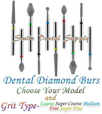 Dental Diamond Burs Various Models And Grit Types 10 Pieces Pk By Defend