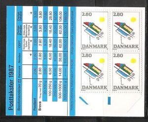 Denmark-SC-844-Abstact-By-Ejler-Bille-Complete-Booklet-MNH