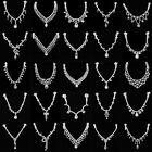 Crystal Rhinestone Hair Clip Chain Jewelry Head Piece Prom Party Bridal Headband