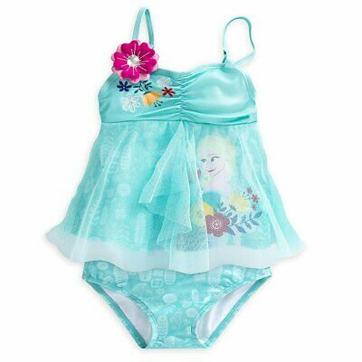 8 Elsa /& Anna Frozen inspired bathing suit with tutu girls size 4 6 10
