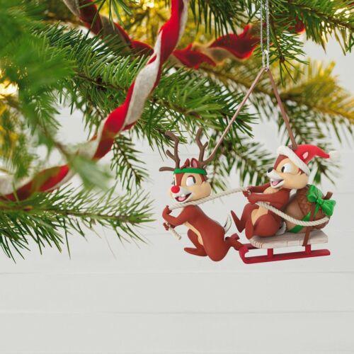 Disney Chip and Dale Dashing Through the Snow 2018 Hallmark Ornament