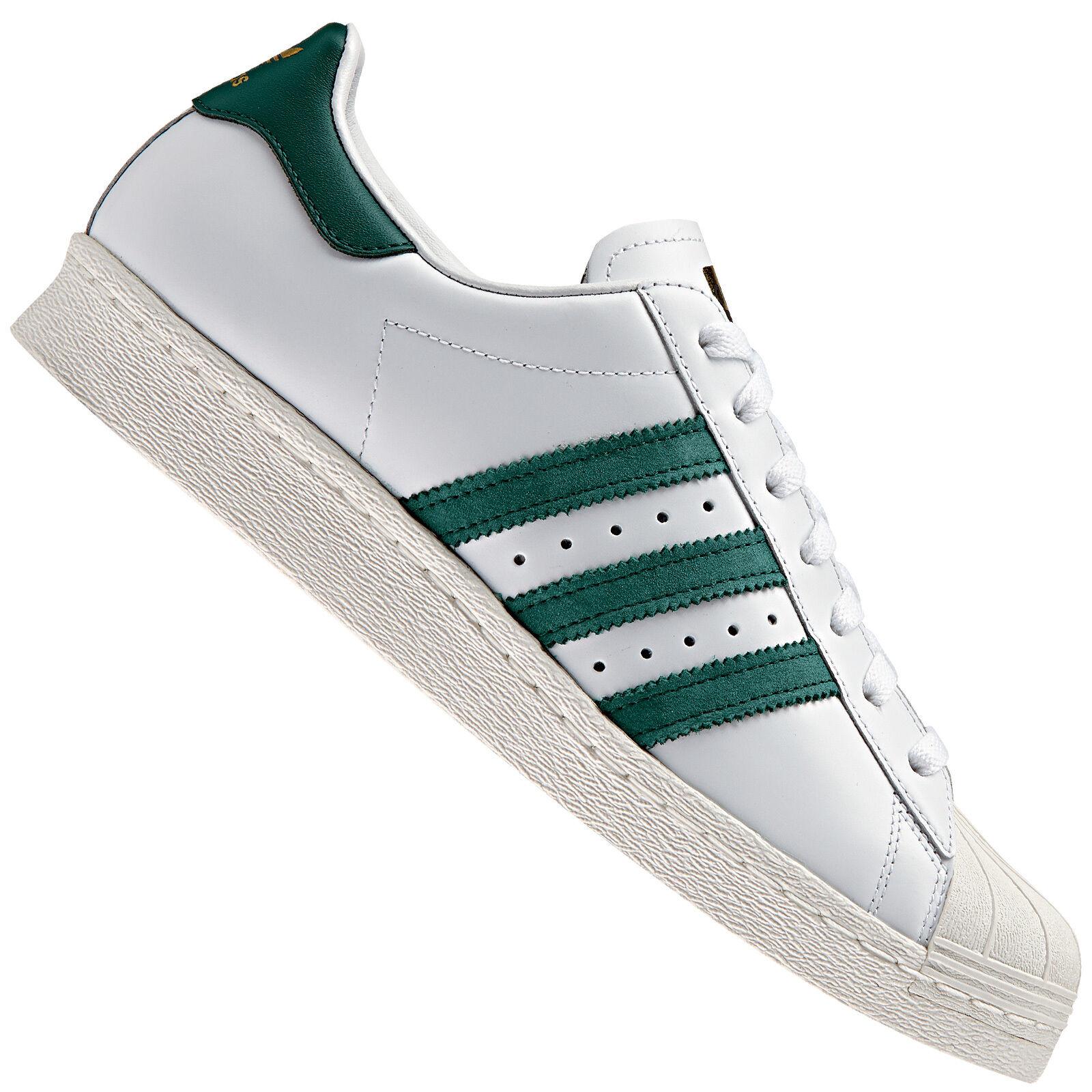 Adidas Originals Superstar Weiß/Grün 80s Damen-Sneaker Gum Outsole Weiß/Grün Superstar BB2230 Schuhe 79e282