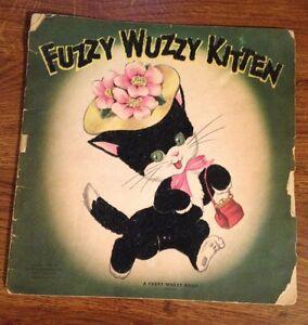 Fuzzy Wuzzy Kitten A Fuzzy Wuzzy Book 1947 Whitman Publ Co